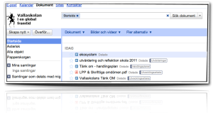 Google docs Vallaskolan