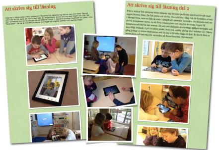 Skriva sig till läsning med iPad på Vallaskolan