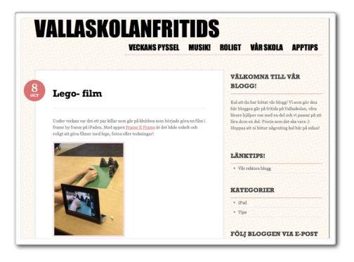 Fritidsblogg