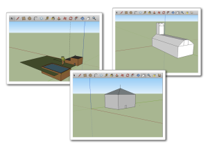 Göra hus i Google Sketchup