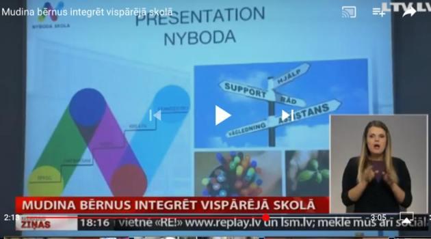 Lettiskt tv inslag om Nyboda skola